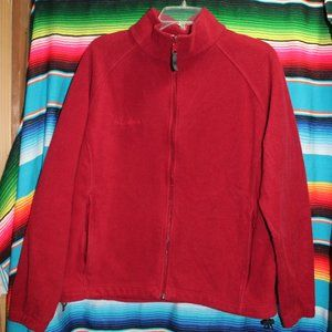 Women's Red Columbia Fleece Zip-Up Size 1x